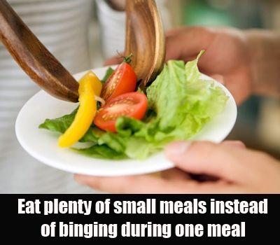 Eat small meals