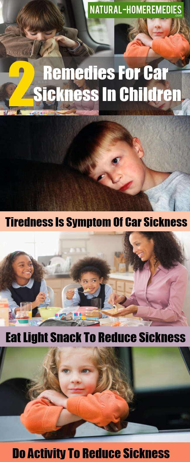 Remedies For Car Sickness In Children
