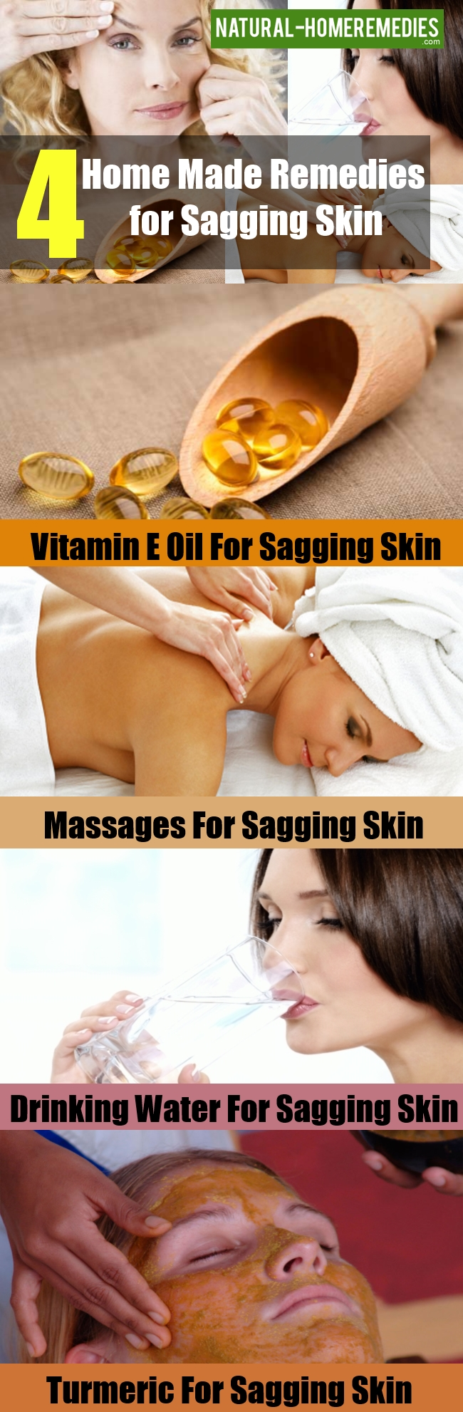 Home Made Remedies for Sagging Skin