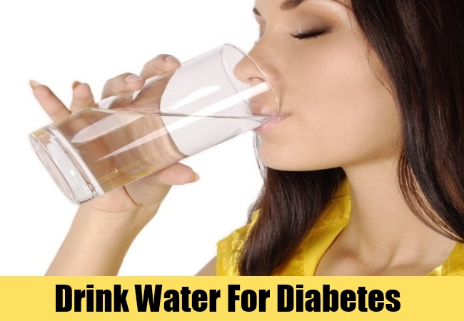 Drink Water For Diabetes