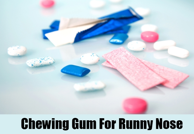 Chewing Gum For Runny Nose