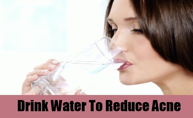 Drink Water To Reduce Acne
