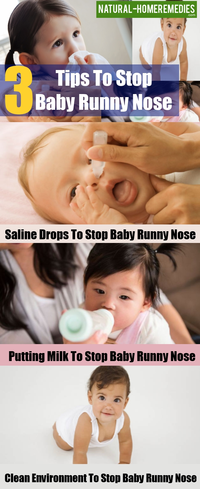Tips To Stop Baby Runny Nose