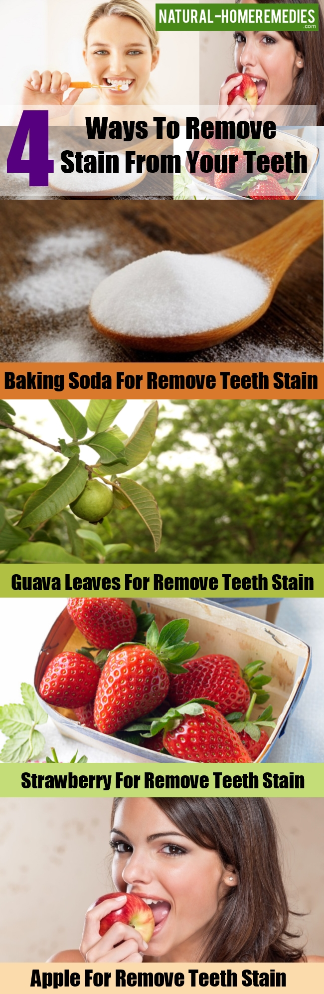 Ways To Remove Stain From Your Teeth
