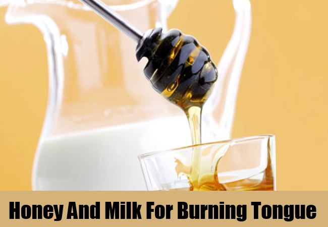 Honey And Milk For Burning Tongue