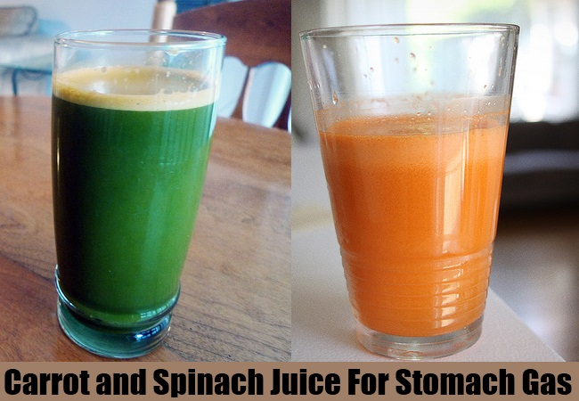 Carrot and Spinach Juice For Stomach Gas