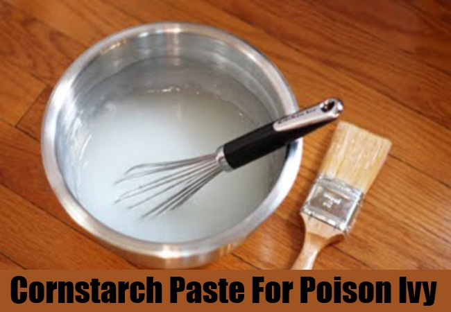 Cornstarch Paste For Poison Ivy