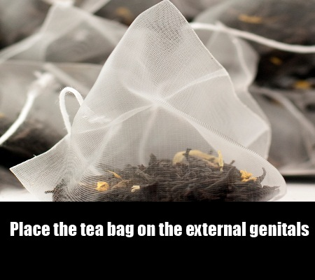 black tea bag