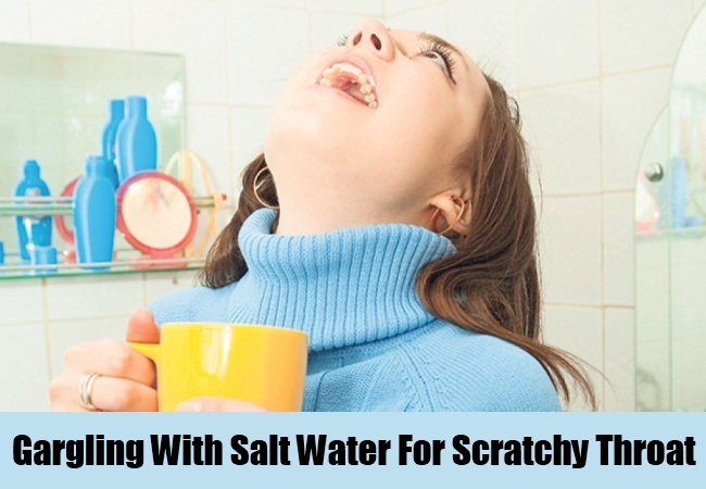 Gargling With Salt Water For Scratchy Throat