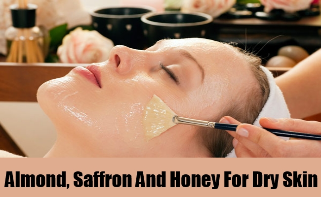 Almond, Saffron And Honey For Dry Skin