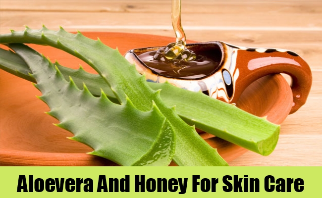 Aloevera And Honey For Skin Care