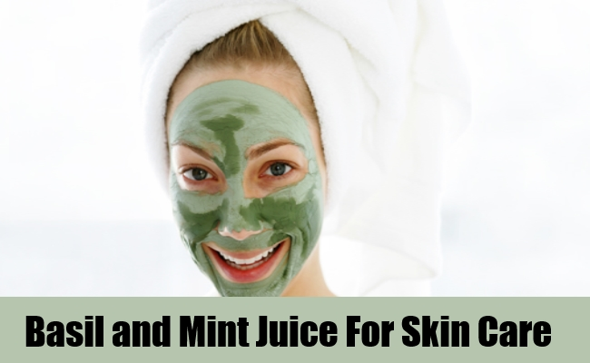 Basil and Mint Juice For Skin Care