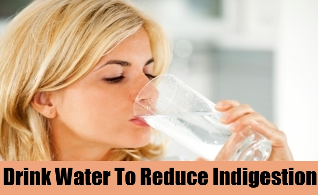 Drink Water To Reduce Indigestion