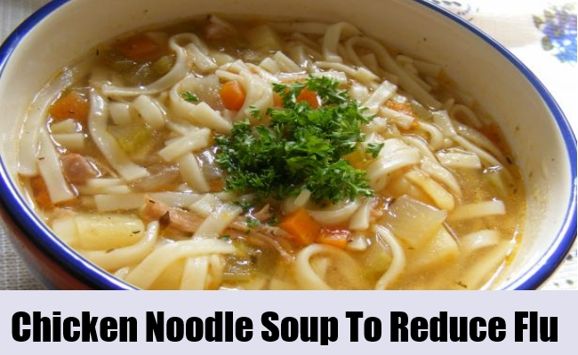 Chicken Noodle Soup To Reduce Flu