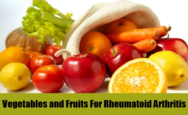 Vegetables and Fruits For Rheumatoid Arthritis
