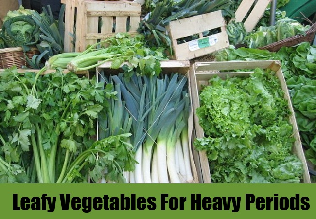 Green Leafy Vegetables For Heavy Periods