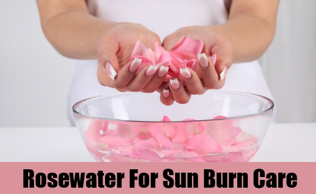 Rosewater For Sun Burn Care