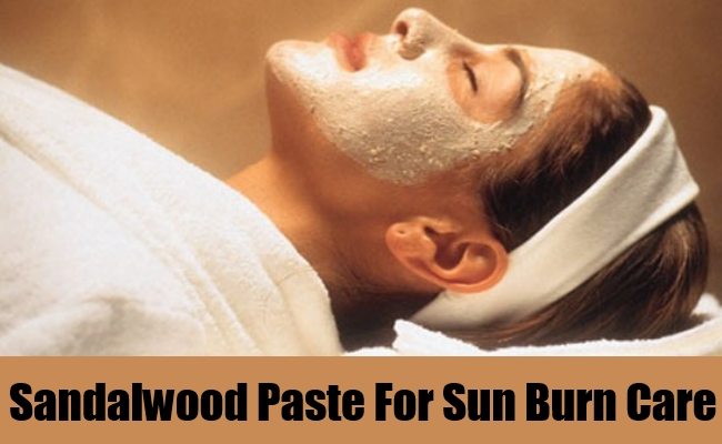 Sandalwood Paste For Sun Burn Care