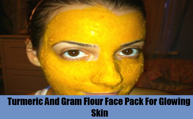 Turmeric And Gram Flour Face Pack For Glowing Skin