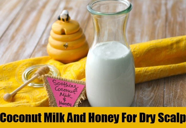 Coconut Milk And Honey For Dry Scalp