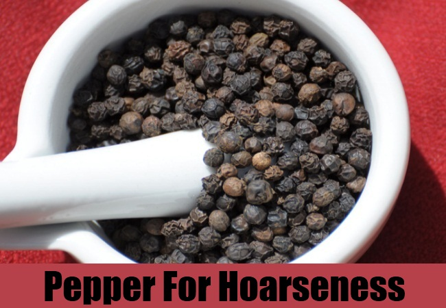 Pepper For Hoarseness