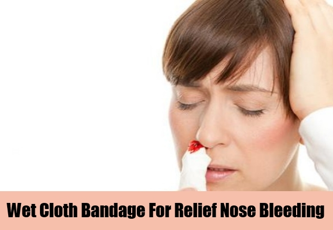 Wet Cloth Bandage For Relief Nose Bleeding