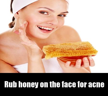 Rub honey