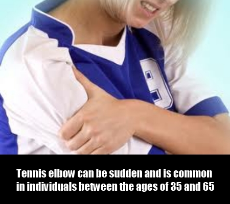 Tennis elbow sudden pain