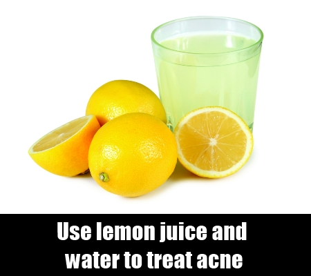 Use lemon juice and water