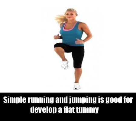running and jumping