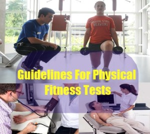 Guidelines For Physical Fitness Tests