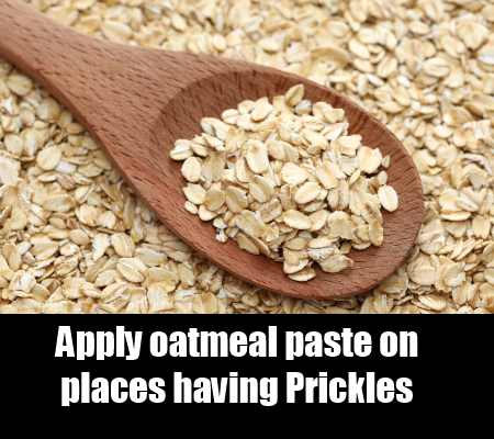Relief from oatmeal