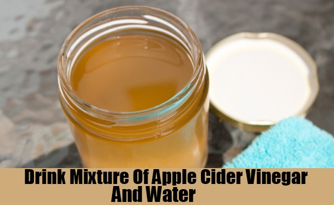 Mixture Of Apple Cider Vinegar And Water