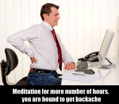 Sitting In Uncomfortable Postures Causes Backache