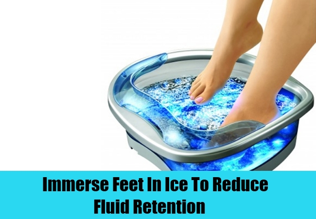 immerse feet in ice