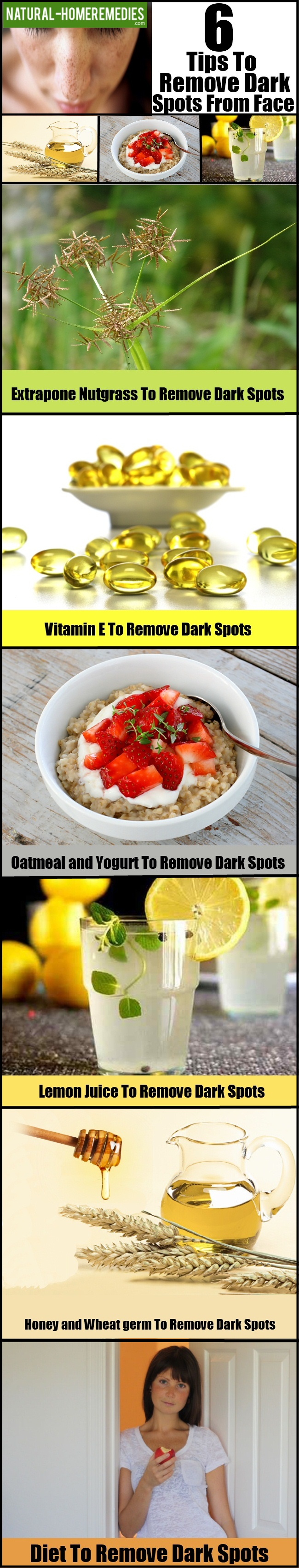 6 Tips To Remove Dark Spots From Face Naturally