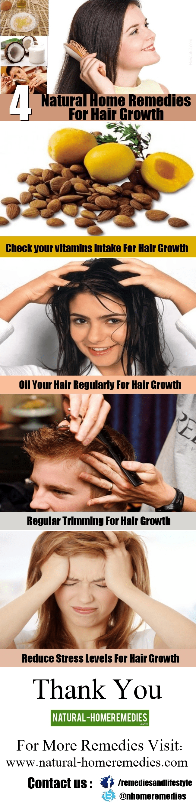 4 Natural Home Remedies For Hair Growth