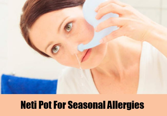 Neti Pot For Seasonal Allergies