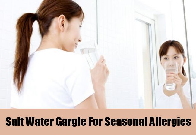 Salt Water Gargle For Seasonal Allergies