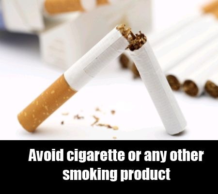 Avoid Smoking And Recreational Drugs