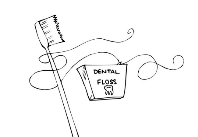Brushing And Flossing Teeth