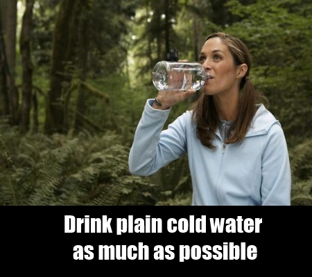 Drinking Plain Water
