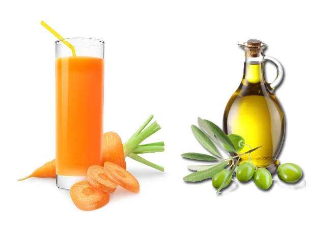 Carrot Juice And Olive Oil