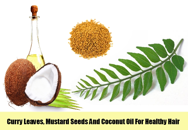 Curry Leaves, Mustard Seeds And Coconut Oil