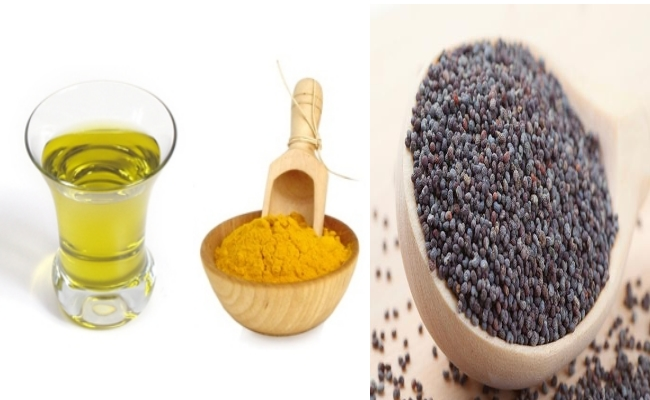 Poppy Seeds, Mustard Oil And Turmeric