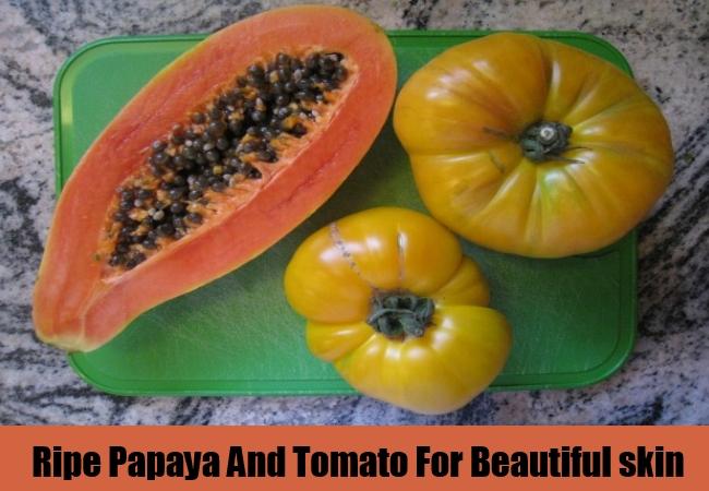Ripe Papaya And Tomato