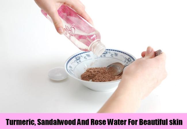 Turmeric, Sandalwood And Rose Water