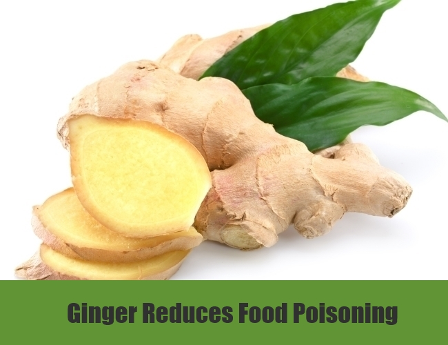 Ginger Reduces Food Poisoning