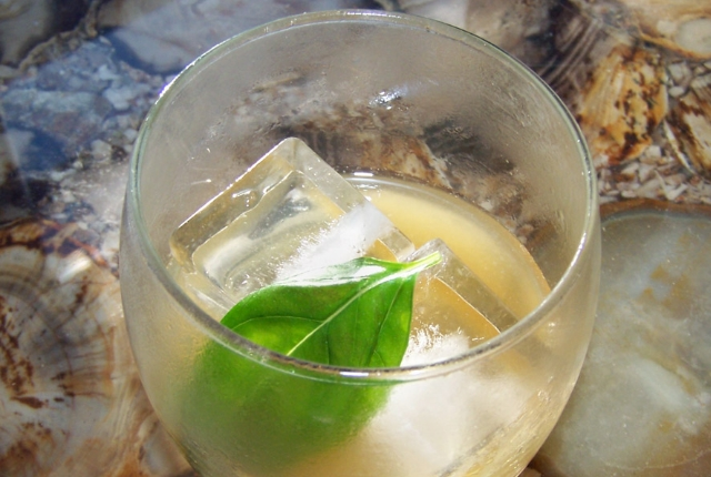 Basil And Lime Juice Concoction