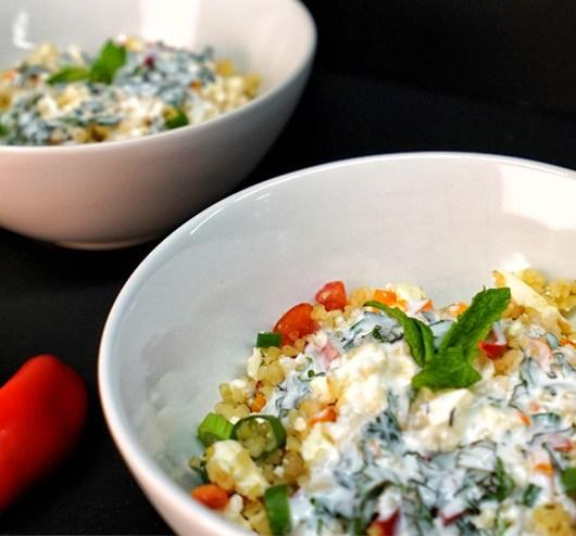 Kefir Bulgur Salad - Orient meets Kefir and Mint - A beauty rises